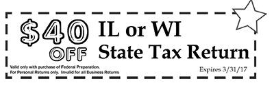 tax preparation coupons